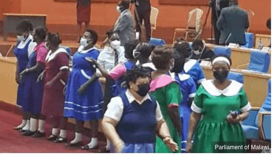 Malawi's female MPs dress up as schoolgirls